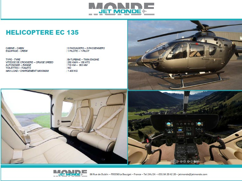 Fiche helicopters EC 135
