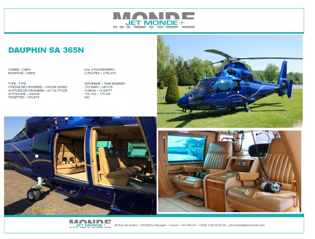 Fiche helicopters Dauphin
