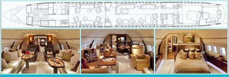 plan photo cabine Boeing 737 BBJ