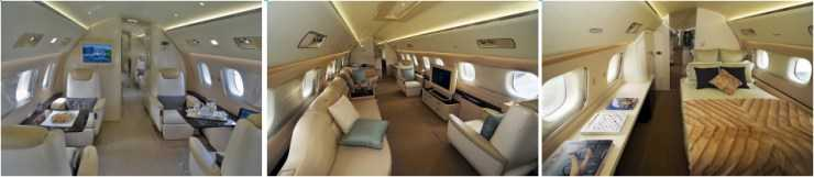 plan photo cabine Embraer Linéage 1000
